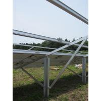 Aluminum Solar Panel Mounting System , Ground Solar Energy Systems Single Pole Manufactures