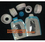 ziplock reusable drink pouch with spout bath tea bag zipper valve flat bottom