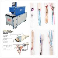 China CO2 Laser Copper Wire Stripping Machine With Double Tube Double Light Road Design on sale