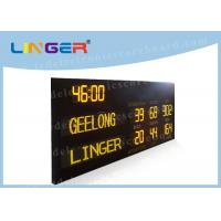Australia AFL Mode Led Electronic Scoreboard with Time Function in Yellow Color Manufactures