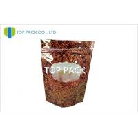 PET / PE Ziplock Stand Up Pouches 250g Coffee Bean Plastic Gravure Printing Manufactures
