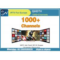 Best Selling IPTV 12 Months QHDTV with Arabic French and Some Europe IPTV channels Manufactures