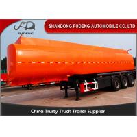 Flammable Fuel Tanker Truck25000 L , Fuel Tank Trailer With 3 Compartments Manufactures