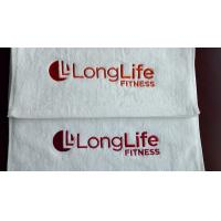 Lowest price small MOQ 100%cotton custom logo embroidered/printed gym towel Manufactures