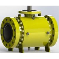 Safe Carbon Steel  Trunnion Mounted Ball Valve with Self Relieving Seat Rings Manufactures