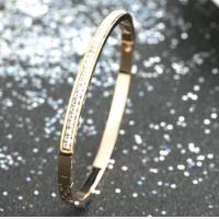 2018 gold bangles latest designs,slim diamonds stainless steel bangle bracelet Manufactures