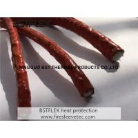 China Silicone rubber coated high temperature fiberglass rope on sale
