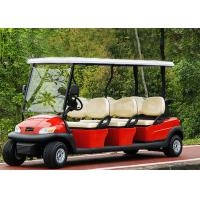 Popular Outdoor 6 Seater Golf Cart With Aluminum Rim , 48V Battery Voltage Manufactures