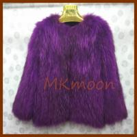 China knitted Raccoon fur coat  -R132# wholesale