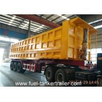 70 - 80 Tons Side dumping trailer with JOST 3 . 5 inch traction pin with Hyva lifting cylinder Manufactures