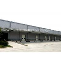 Light Steel Structure Warehouse Depots With Aluminium Sandwich Panel Double Curved Roof
