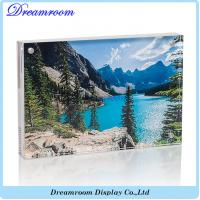 Clear Acrylic Magnet Photo Frame Double Sided For Pictures Manufactures