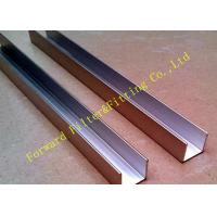 China Sandblasting 3/8 Sheet Metal U Channel Aluminum Extrusion For Heavy Industrial wholesale