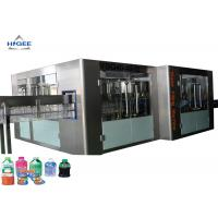 PLC Controled Automatic Water Filling Machine For Small Complete Soda Beverage Manufactures