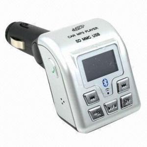 China Bluetooth Handsfree Car Kit/Car Bluetooth MP3 Player/FM Modulator, Supports USB Flash/SD Card on sale
