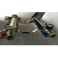 High Strength Manual Radiant Heat Brass Water Manifold 2 ways To12 ways Manufactures