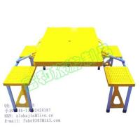 China Supply ABS portable folding table with four chairs on sale