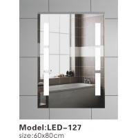 Wall Mounted Touch LED Bathroom Mirror , Split Rectangle Light Up Mirror With Lights In It Manufactures