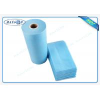 Buy cheap 100% Flesh PP Nonwoven Bed Sheet , Medical Bed Sheets Blue Color Packing In Roll from wholesalers