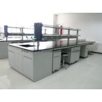 Lab Work Table With Sink Unit For Educational Institutions and Testing Center Steel Lab Furniture Manufactures