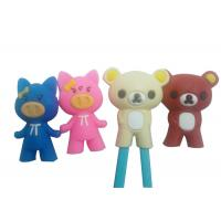 Cute Cartoon Animal Silicone Cooking Utensils , Chopsticks Holder Silicone Guide / Training Connector Manufactures