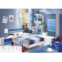 China Blue Color Environmental Paint Kids Bedroom Furniture Sets For Boys , Easy To Assembly on sale