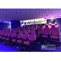 JBL Sound System 6D Movie Theater Black / Red Motion Chairs For Shopping Mall Manufactures