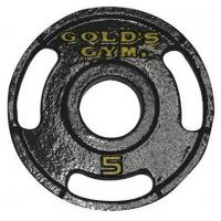 5 LBS Tri - Grip Cast Iron Weight Plates Customized Label With UPC Code Manufactures