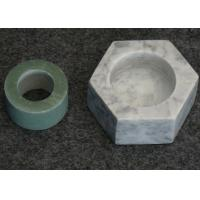 China Hexagon Shape Stone Candle Holders , Marble T Light Candle Holders 6x7.2x3.5cm on sale