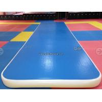 15m Blue Gymnastics Air Track , Air Mattress Gymnastics With Durable Handles Manufactures