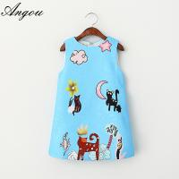Angou Girls Dresses Brand Kids Clothes Girls Costumes Princess Dress Character Pattern Manufactures