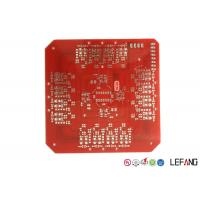 Double Sided Heavy Copper PCB Board , Lead Free HASL Metal Backed PCB Red Solder Mask Manufactures
