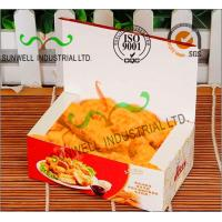 Coated Paper Display Foldable Cardboard Boxes For Fried Food Products Packaging Manufactures