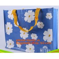 Recycle Ecological Custom Food Packing Ultrasonic polyprolylene Woven Tote Bags, handles promotional shopping bags avail Manufactures