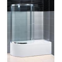 Two Panel Sliding Shower Bath Screen Curved ,  P Shaped Bath Folding Shower Screen Manufactures