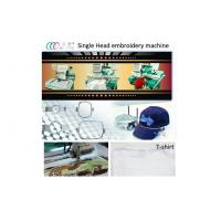 Touch screen small embroidery machine , computerised 1 head embroidery machine new Manufactures