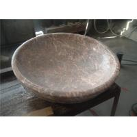 Red Agate Marble Bathroom Sink , Stone Bowl Basin Beautiful Appearance Manufactures