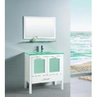 Honed White Bathroom Vanity Cabinet with Frosted Glass Doors (T9162) Manufactures
