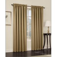 135 GSM Taupe Window Panel Curtains , Blackout Window Curtains With Rod Pocket Manufactures