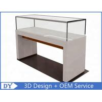 Quality 1200X550X950MM Wooden Glass Jewelry Counter Display Cases With Locks for sale