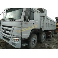 China Used Dump Truck HOWO 375 dump truck White color 12 wheels Africa construction work on sale