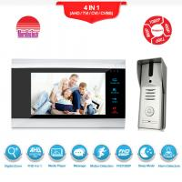 China Security system door bell camera video 7 Inch TFT LCD with CE FCC ROHS Certification video Intercom sets on sale