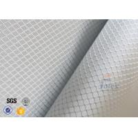 220g 0.2mm Checked Aluminized Fiberglass Fabric For Decoration Manufactures