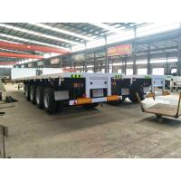 4 axle 60 ton trucks and trailers flatbed semi trailer for sale Manufactures