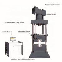 China Single Space Servo Hydraulic Universal Testing Machine With Top Oil Cylinder on sale