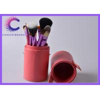 Cosmetic 12 pcs makeup brush set  with leather bucket , leather box Manufactures