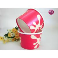 Customize 8oz PE Coated Disposable Ice Cream Bowl With Dome Lid Manufactures