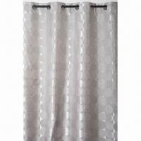 China 100% polyester 1 pass lined blockout curtain, pencil pleat/eyelet/pinch pleats are available on sale