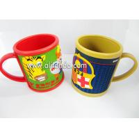 Food grade cute cartoon silicone soft pvc 3D embossed mug promotion kids plastic mug Manufactures