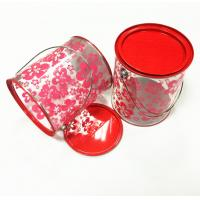 China D126x150mm Round Cyliner Tin Box With PVC PET Plastic Tube And Metal  Handle on sale